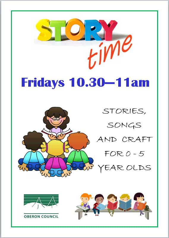 Storytime at the Oberon Council Library - New time, new